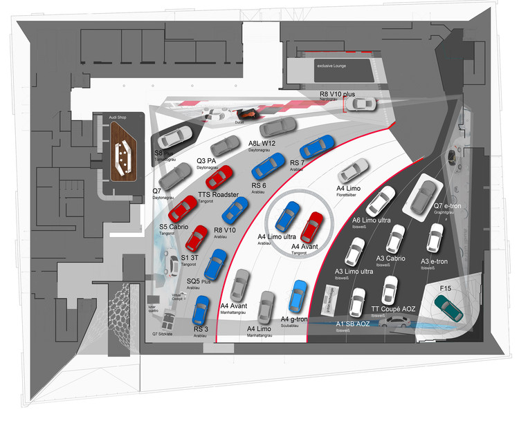 Used Car Floor Plan: Audi Motor Show 2015 / SCHMIDHUBER