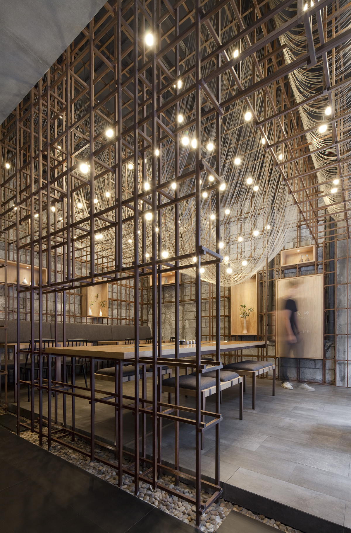 The noodle rack lukstudio archdaily for Ristoranti design