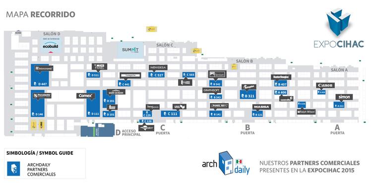 Conoce la Ruta ArchDaily de partners exclusivos en EXPOCIHAC 2015
