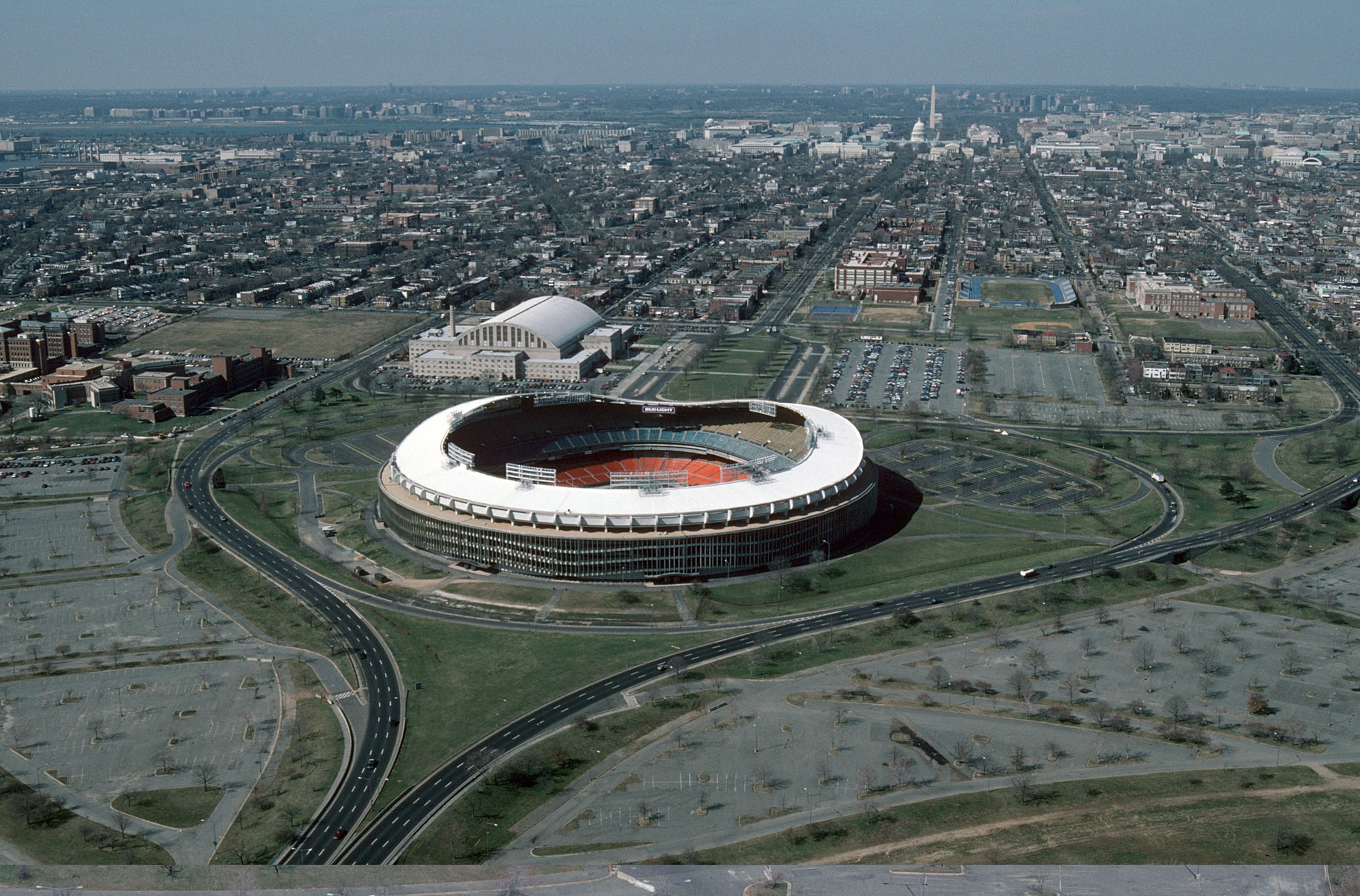 Education stadia and arenas sports and leisure healthcare residential - Oma To Redesign Washington Dc S Rfk Stadium Campus Rfk Stadium In 1988 Image