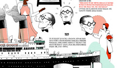 Infográfico da vida de Le Corbusier por Vincent Mahé