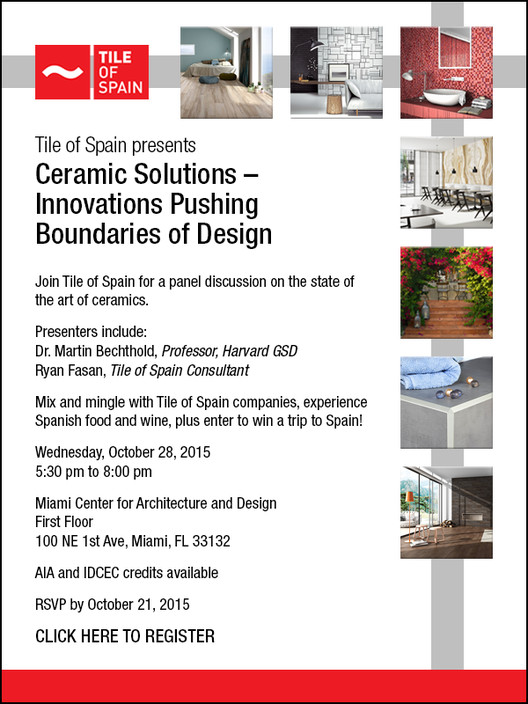 Tile of Spain Presents: Ceramic Solutions - Innovations Pushing Boundaries of Design, Tile of Spain presents: Ceramic Solutions - Innovations Pushing Boundaries of Design