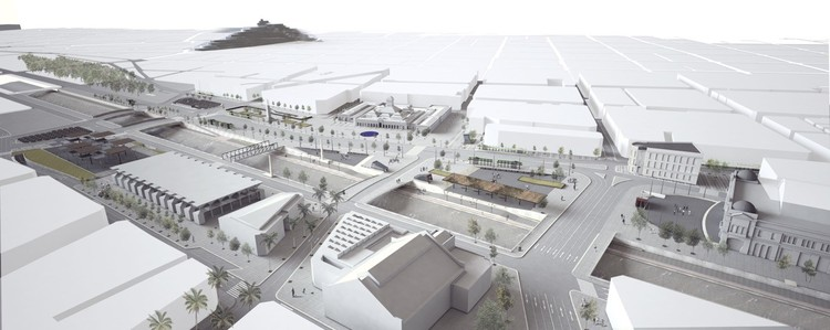 Presentan las ideas finalistas que buscan diseñar la nueva Explanada de los Mercados en Santiago , Propuesta SHIFT Arquitectos. Image Cortesía de Municipalidad de Santiago