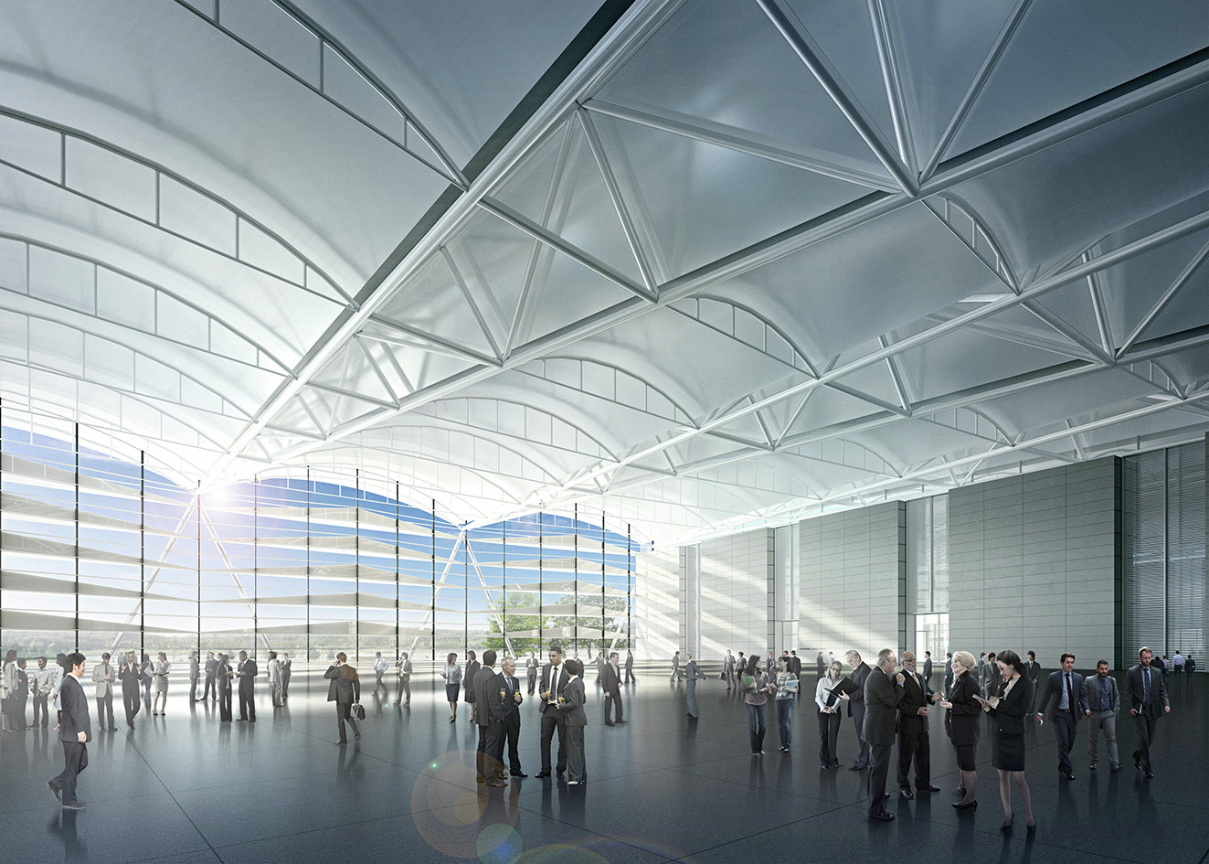 Gallery of gmp selected to design vietnam s national exhibition and trade fair center 4 for To the trade only interior design