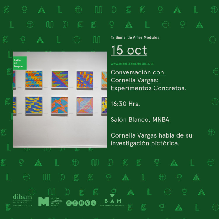 Conversación con Cornelia Vargas, Bienal de Artes Mediales