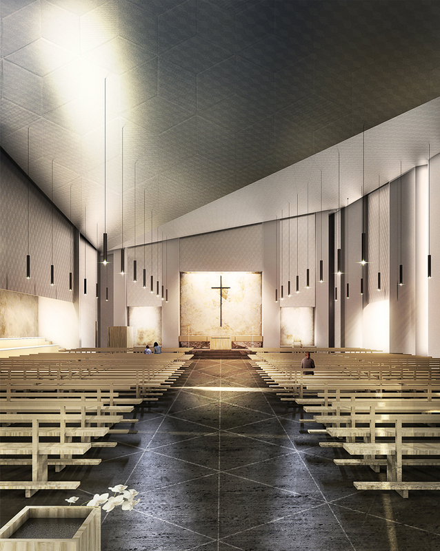 Gallery of tomas ghisellini architects reveals cinisi for Modern church youth building design