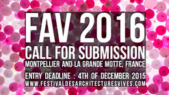 Call for Submissions: Festival des Architectures Vives 2016