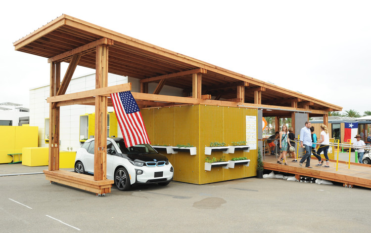 Is the Solar Decathlon Still Relevant?, Indigo Pine by Clemson University. Image © Thomas Kelsey/U.S. Department of Energy Solar Decathlon