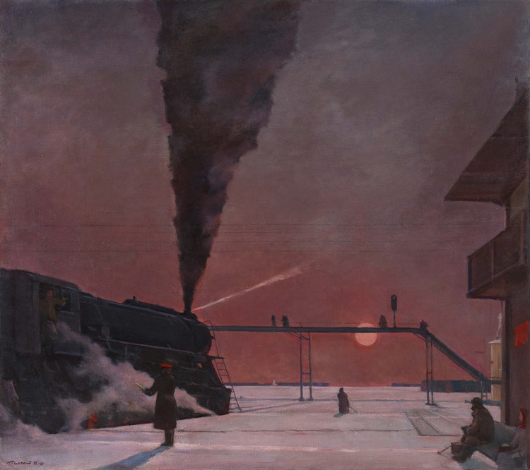 Exhibition: Russia on the Road. 1920 – 1990, Georgy  G. Nissky En route, 1958-1964 The Institute of Russian Realist Art