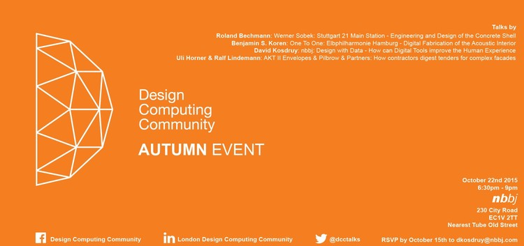 London Design Computing Community, @dcctalks