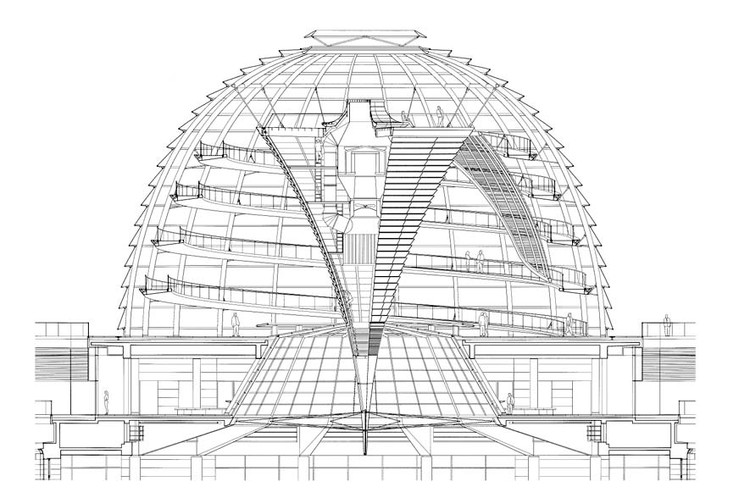ad classics  new german parliament  reichstag    foster   partners