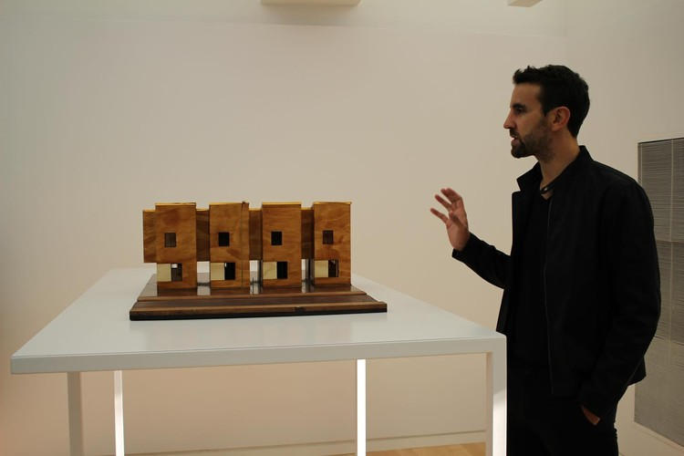 Joseph Grima during the press tour at the opening of the Chicago Architecture Biennial. Image © Diego Hernández
