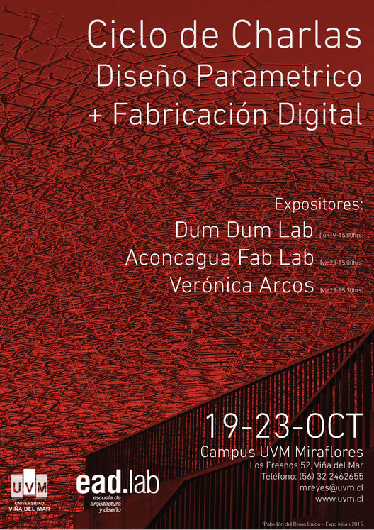 Ciclo de Charlas Parametrica y Fabricación Digital, Pabellon UK Expo Milan 2015