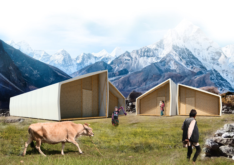"Barberio Colella ARC Designs Pop-Up Home to Rebuild Nepalese Lives in ""Just a Minute"", Courtesy of Barberio Colella ARC"