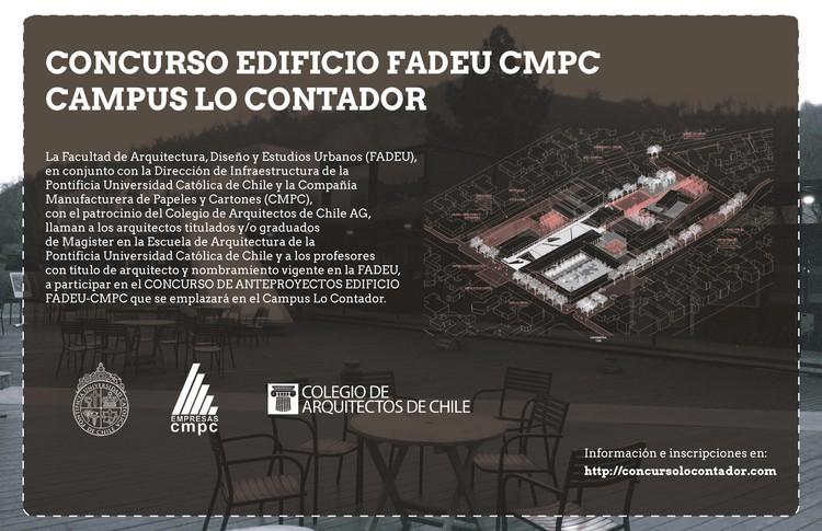 Convocatoria: Concurso Edificio FADEU-CMPC Campus Lo Contador