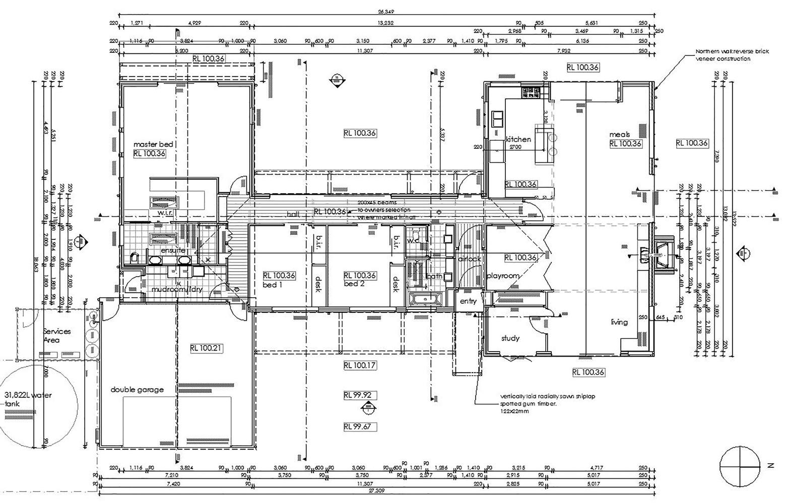 700 Haus Trentham,Detail Floor Plan