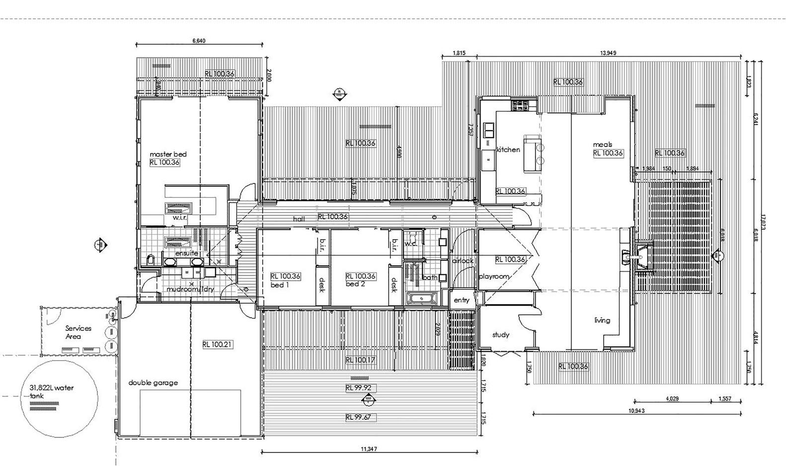 700 Haus Trentham,Floor Plan With Deck