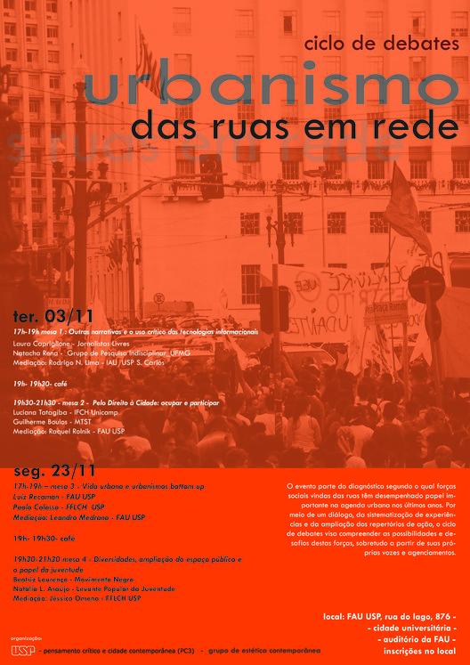 Ciclo de debates: Urbanismo das ruas em rede