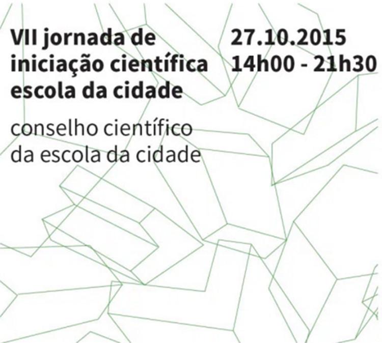 Escola da Cidade promove VII Jornada de Iniciação Científica, via Escola da Cidade