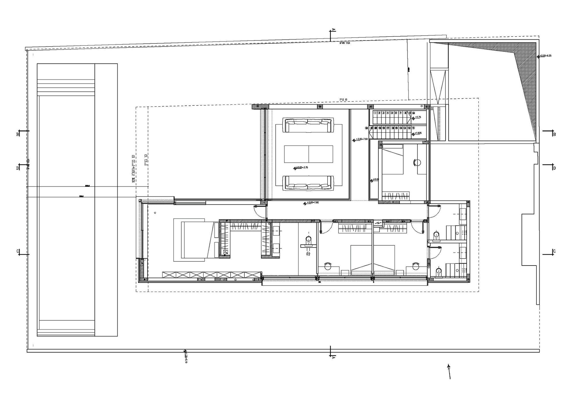 56280e61e58ece127a0002ae House On The Sea Pitsou Kedem Architects First Floor Plan on Floor Plan Drawing