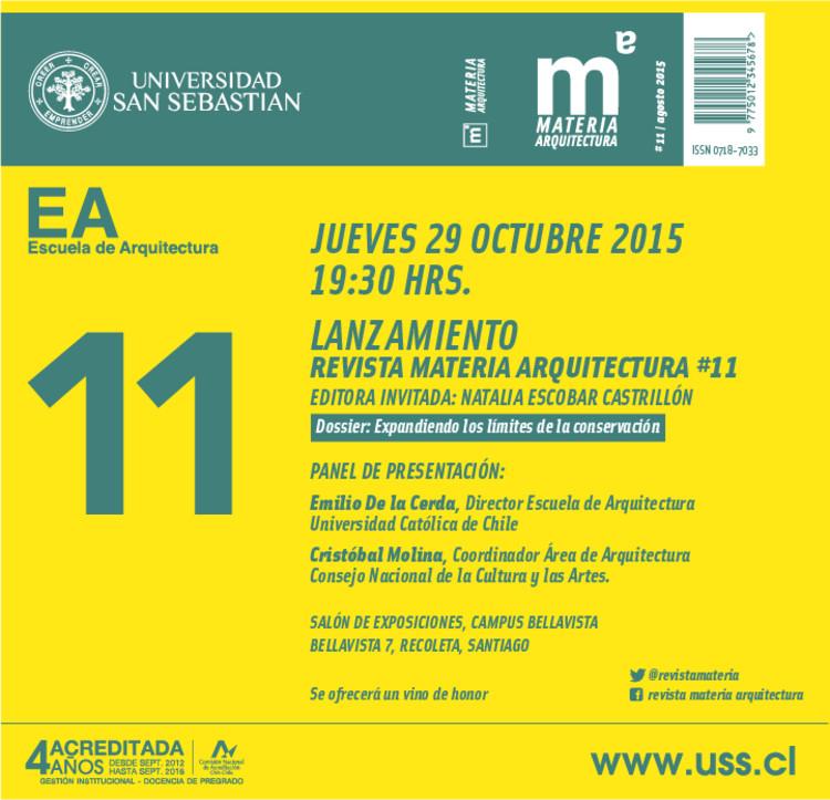 Lanzamiento Revista Materia #11