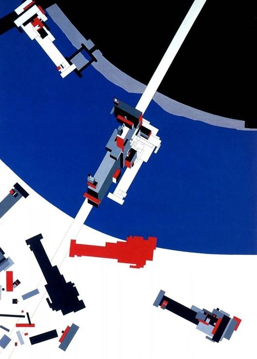 Malevich's Tektonik, 1977. Image Courtesy of Zaha Hadid Architects