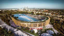 MJA Studio Proposes Multi-Use Surf Park for Subiaco, Australia