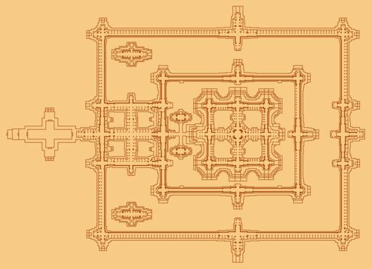 Floor Plan of Temple Precinct. Image © Wikipedia user: Baldiri, licensed under CC BY-SA 3.0