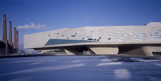 Phaeno Science Center, Wolfsburg. Image © Werner Huthmacher, Courtesy of Zaha Hadid Architects