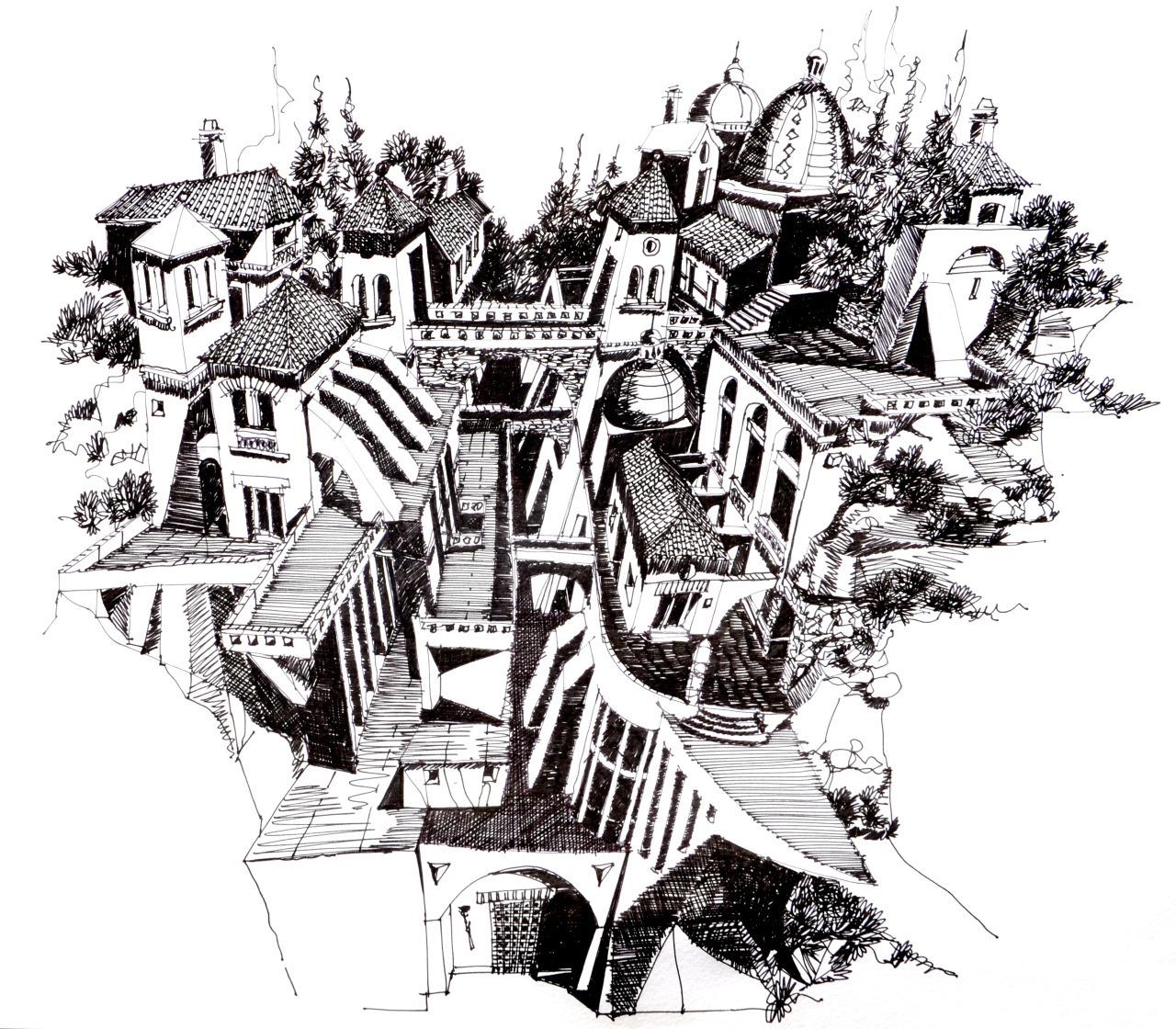 Galeria Arquitectonica: Galería De Ilustraciones Medievales Que Desafían La