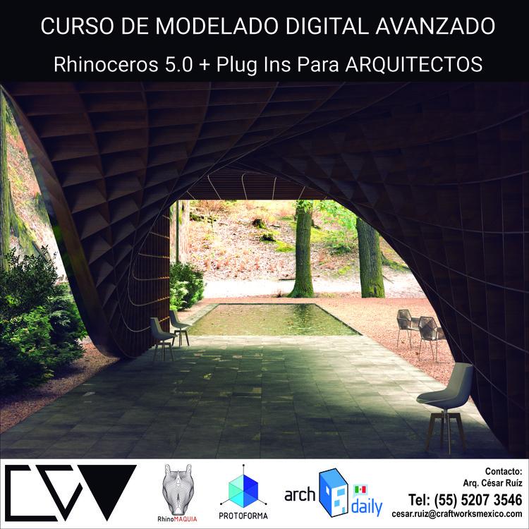 Curso de modelado digital avanzado rhinoceros 5 0 para for Cursos para arquitectos