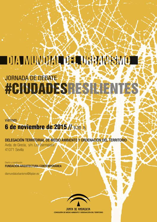 Jornada de debate #ciudadesresilientes, Cartel #ciudadesresilientes. Fundación Arquitectura Contemporánea