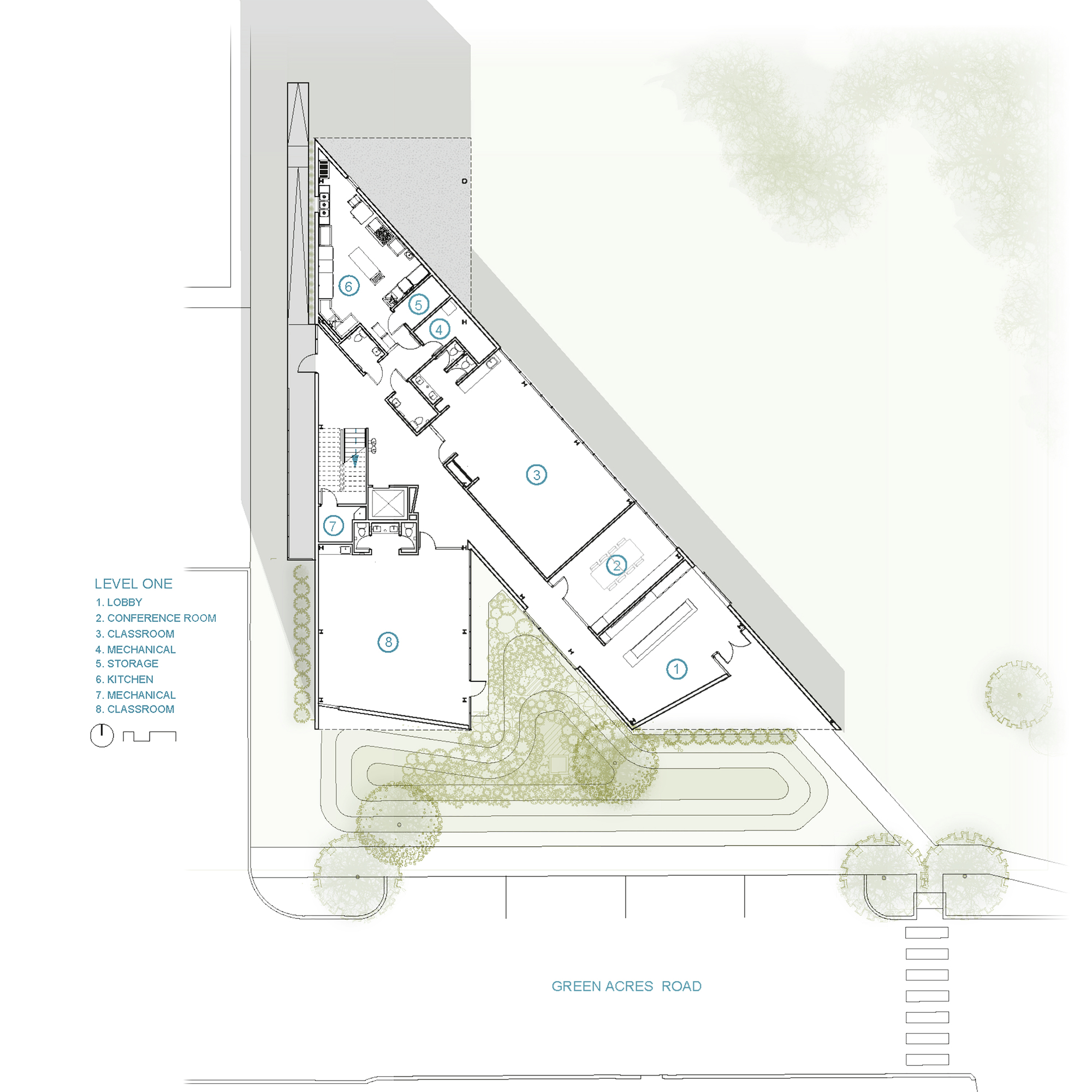 Patio Floor Plans Gallery Of Fayetteville Montessori Elementary School