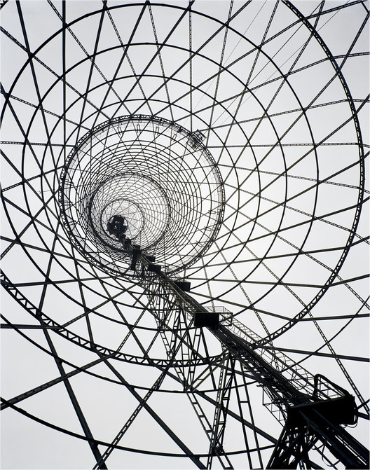 World Monuments Fund Releases List of 50 Endangered Cultural Sites , Shabolovka Radio Tower, Moscow, Russia. Vladimir Shukhov, 1922. Image © IOM 2015