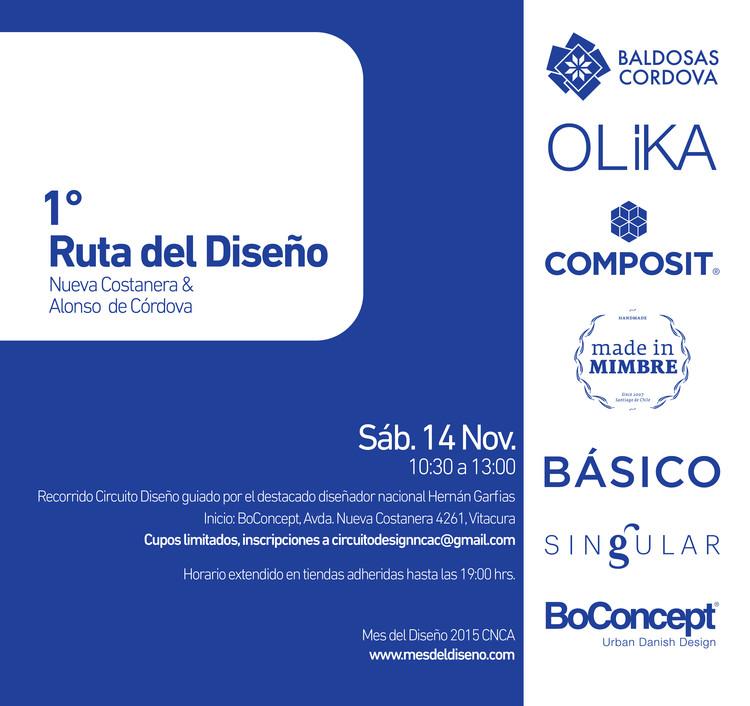 Primera Ruta Del Diseño Nueva Costanera & Alonso de Córdova, Afiche Circuito Diseño