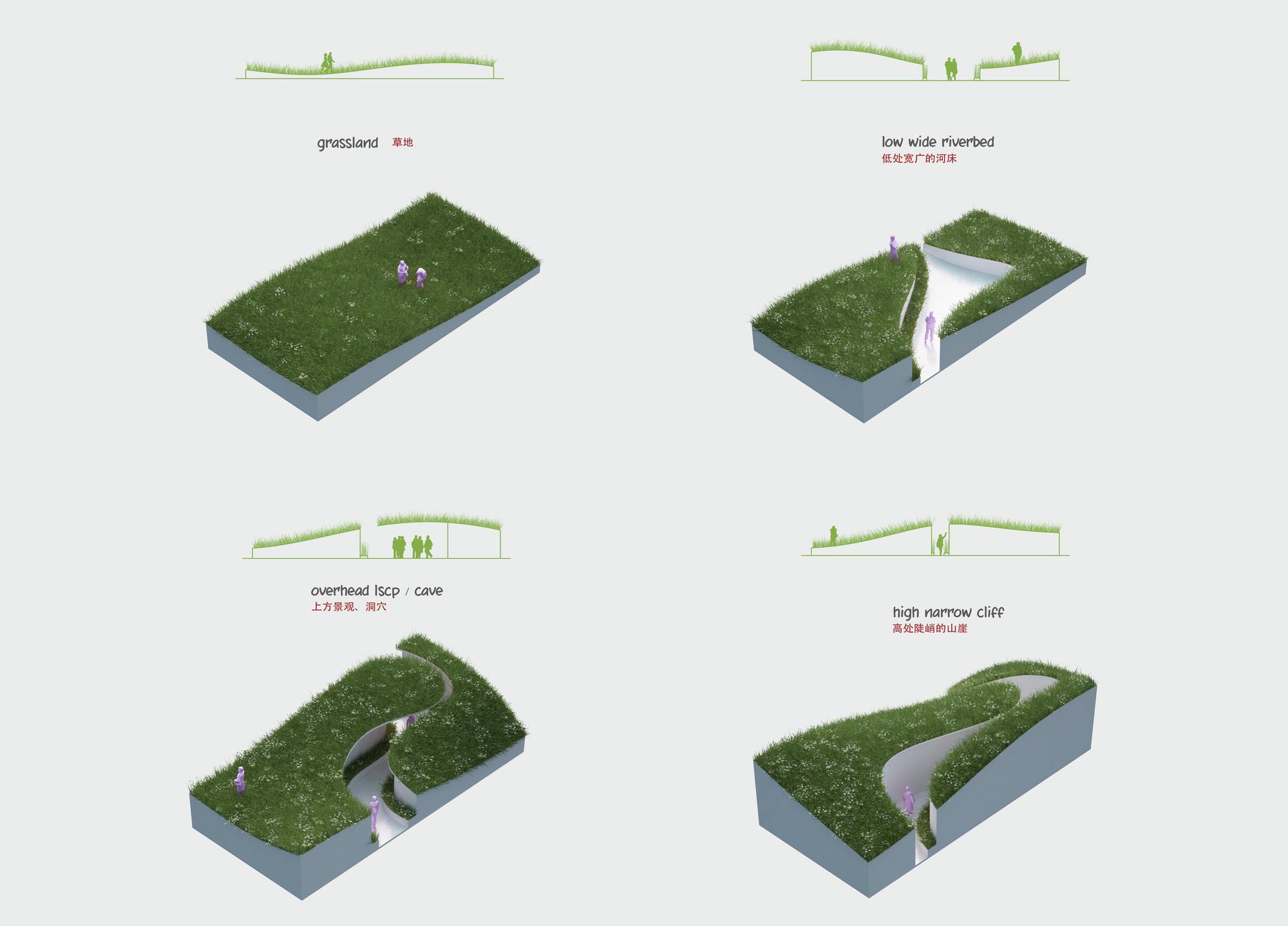 penda designs river inspired landscape pavilion for china s garden