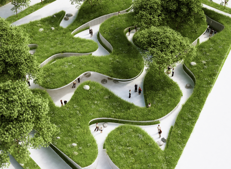 Penda Designs River Inspired Landscape Pavilion For Chinas Garden ExpoC Architecture