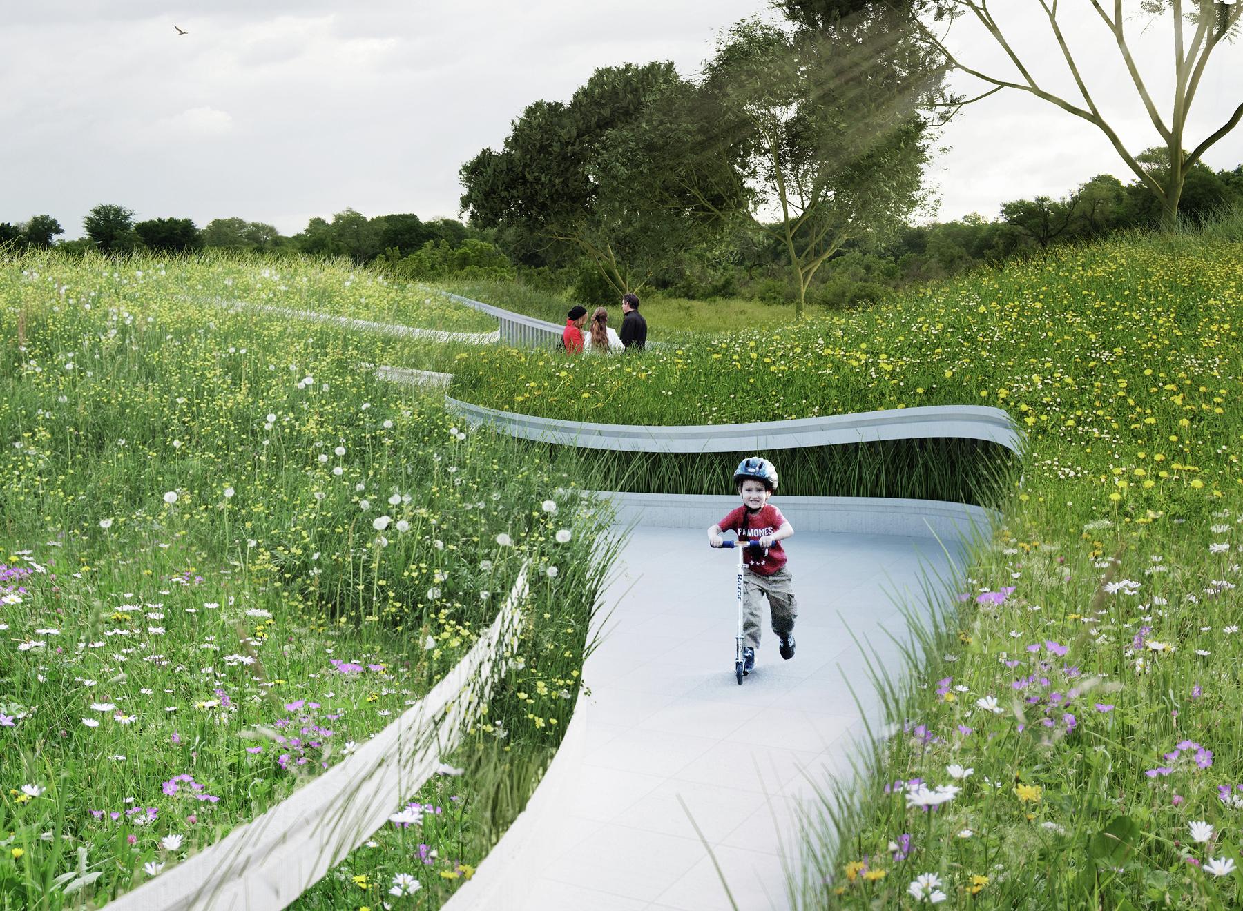 gallery of penda designs river inspired landscape pavilion for