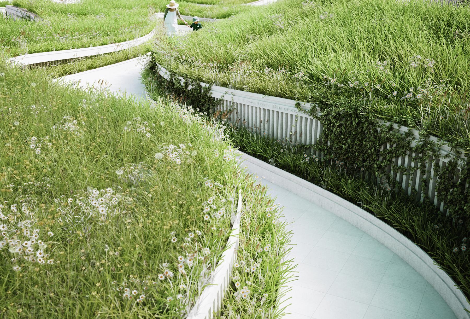 gallery of penda designs river-inspired landscape pavilion for china u2019s garden expo