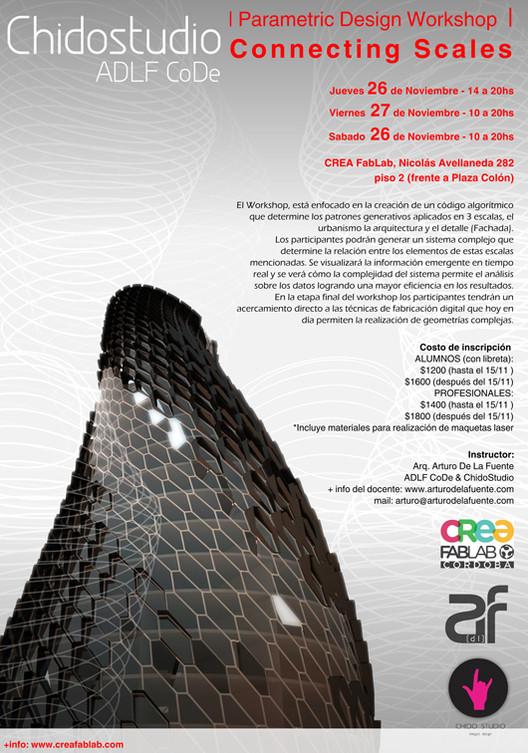 'Connecting scales': Workshop Diseño Paramétrico / ¡Sorteamos un cupo! [cerrado], Chidostudio - Diseño: Diego Ortigoza
