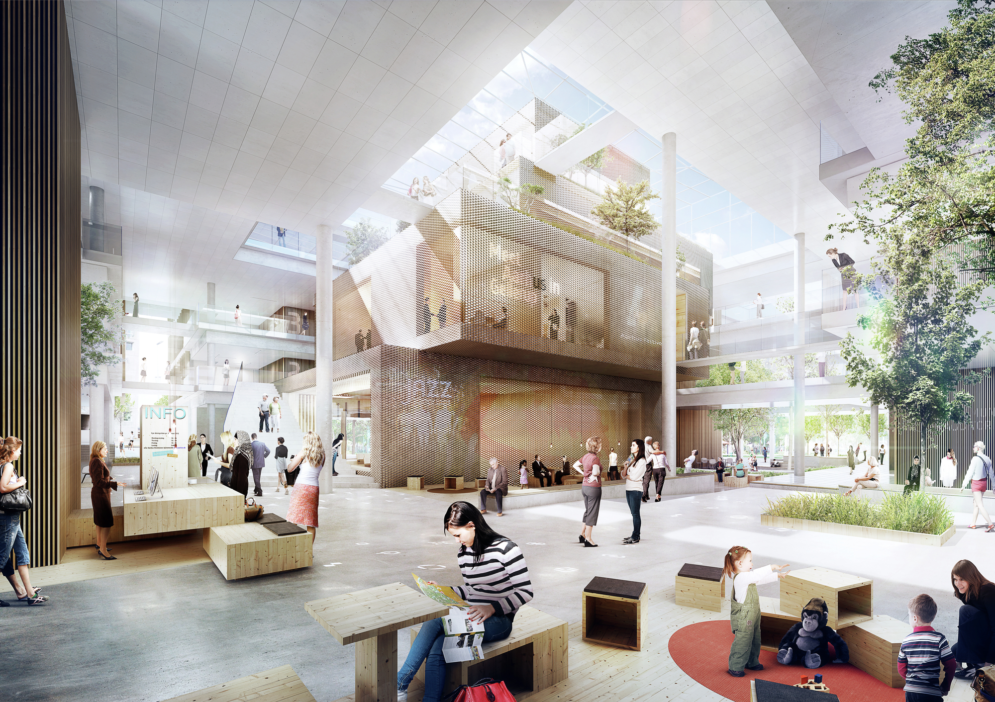 Arkitema designs municipal office building for aarhus - Office building interior design ideas ...
