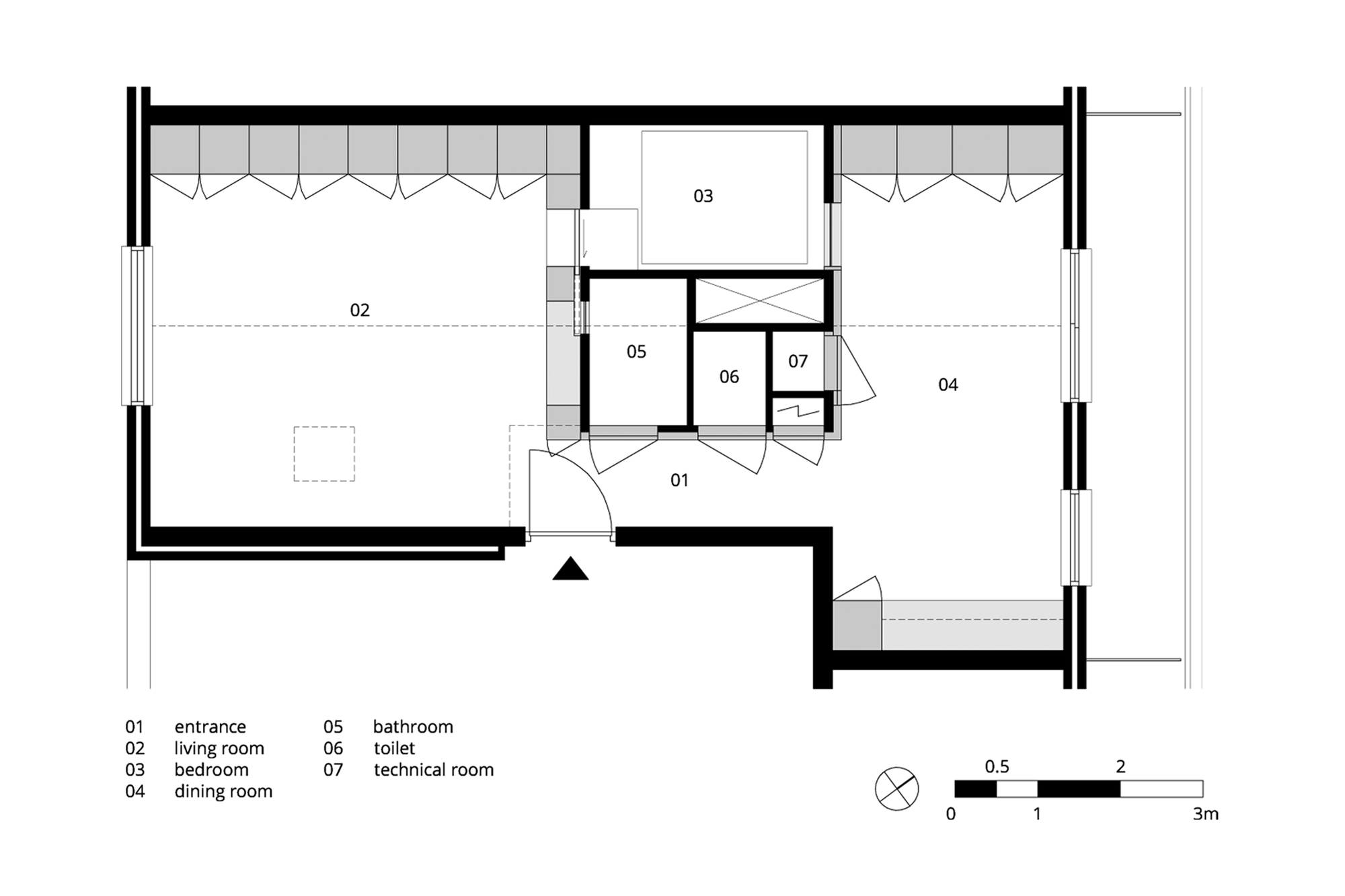 Gallery of amsterdam urban loft bureau fraai 11 for Loft floor plans with dimensions