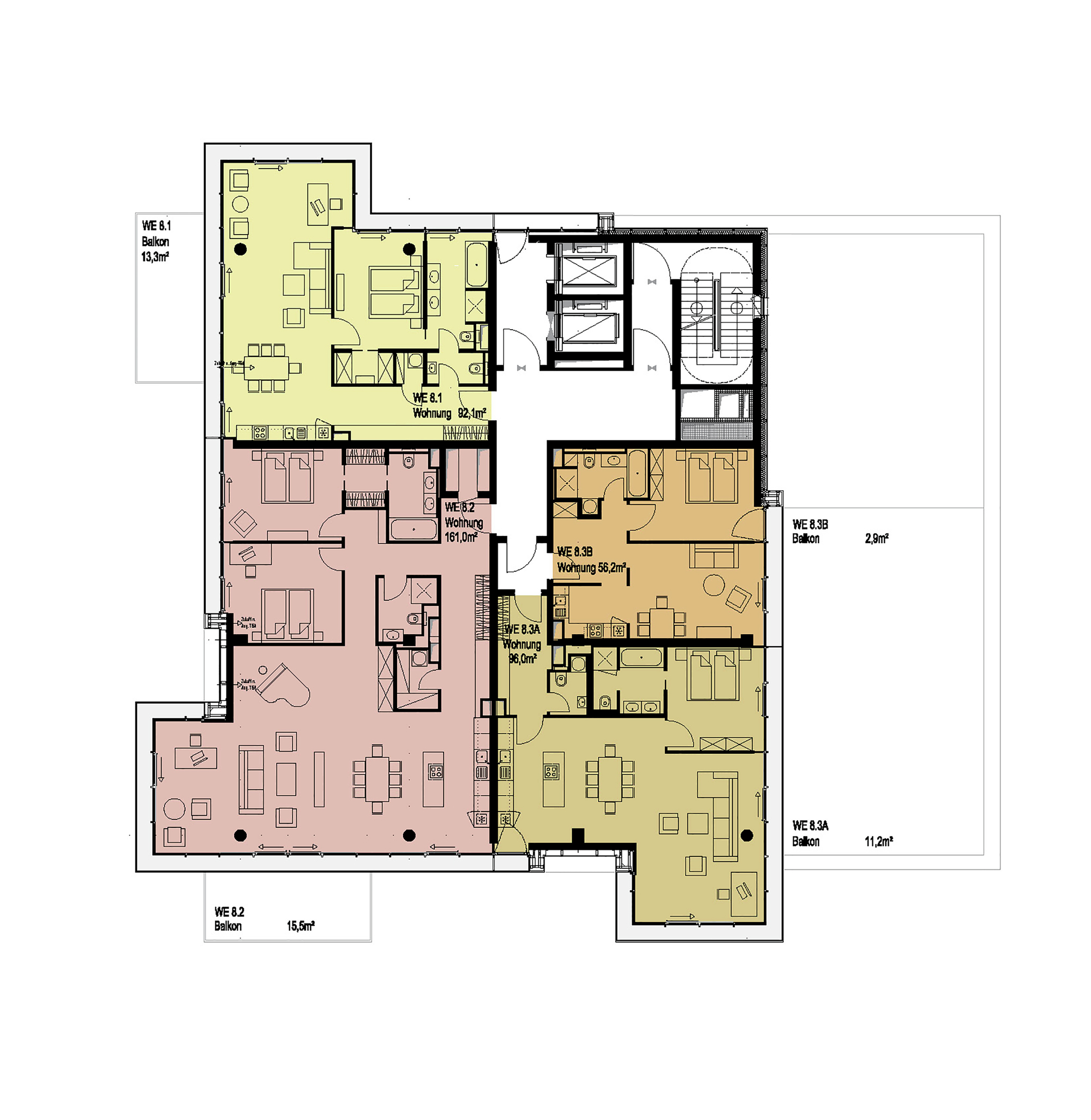 Galeria de living levels tchoban voss architekten 24 for Www home plans com