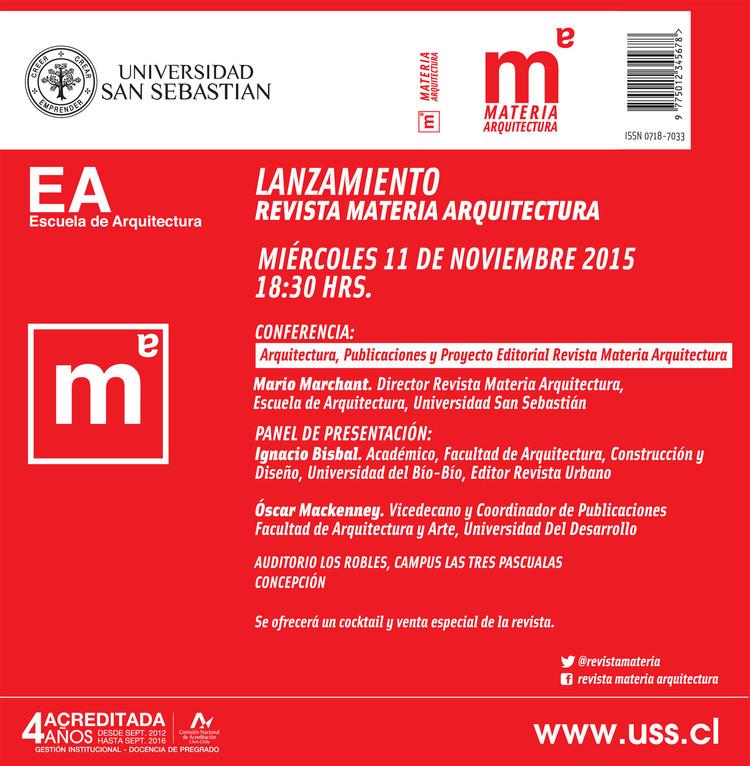 Lanzamiento Revista Materia Arquitectura en Concepción, Facultad Arquitectura y Arte USS