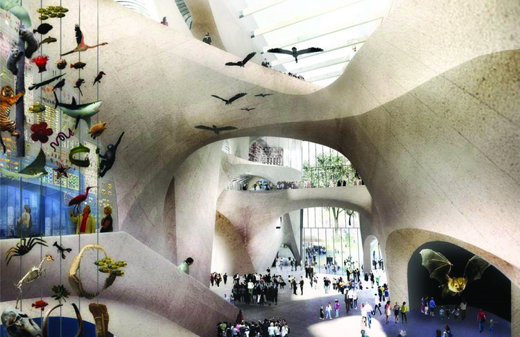 Jeanne Gang to Expand New York's American Museum of Natural History, The new Central Exhibition Hall, which also serves as the Columbus Avenue entrance. Image © AMNH/D. Finnin