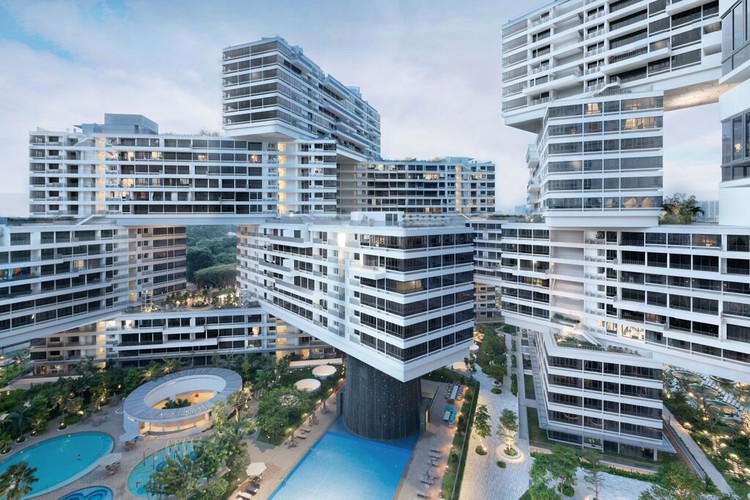 "Complexo Habitacional do OMA e Ole Scheeren vence o prêmio ""World Building of the Year 2015"" , Edifício do Ano: The Interlace (Singapura) / OMA e Ole Scheeren. Imagem © Iwan Baan"
