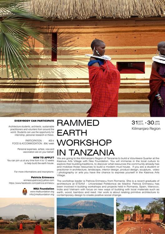 Rammed Earth Workshop in Tanzania, RAMMED EARTH WORKSHOP - Design. Build. Safari!
