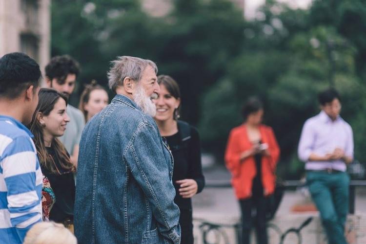 Fallece el arquitecto y académico Fernán Meza, Fernán Meza en una reciente actividad de 'Pasarelas Verdes San Borja'. Image © Bruno Giliberto