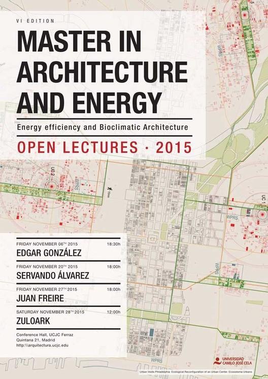 Ciclo de conferencias abiertas del máster en arquitectura y energía