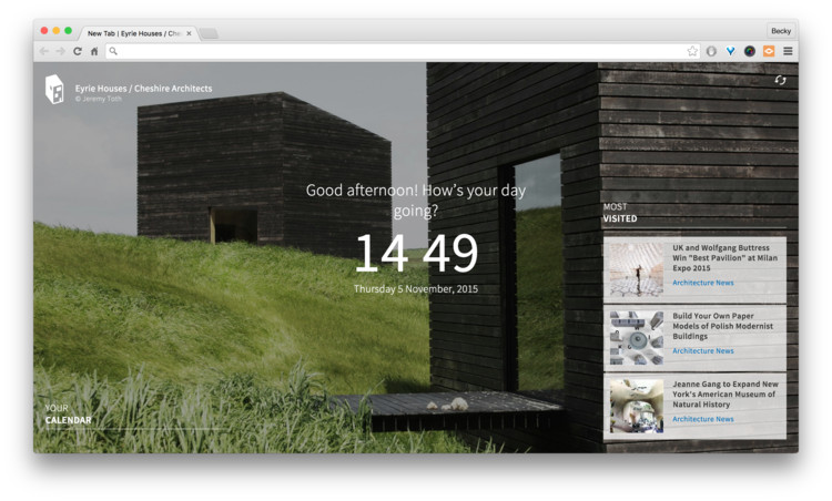 ArchDaily's Chrome Extension: Inspiration in Every New Tab